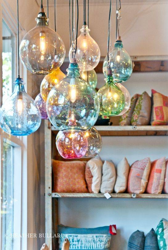 Best 25+ Glass Pendant Light Ideas On Pinterest | Kitchen Pendants For Coloured Glass Pendant Light (#3 of 15)