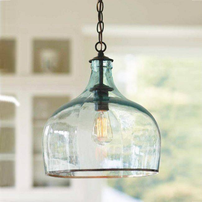 Best 25+ Glass Pendant Light Ideas On Pinterest | Kitchen Pendants For Recycled Glass Pendants (View 2 of 15)