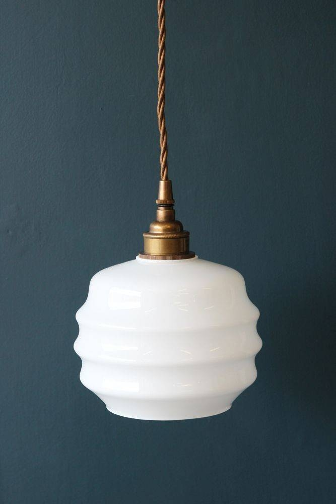 15 Photo Of Milk Glass Pendant Lights Fixtures