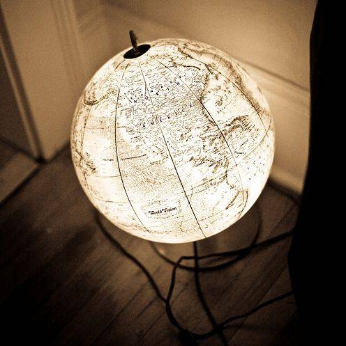Best 25+ Globe Lamps Ideas On Pinterest | Globes, Global Map And For Earth Globe Lights Fixtures (View 2 of 15)