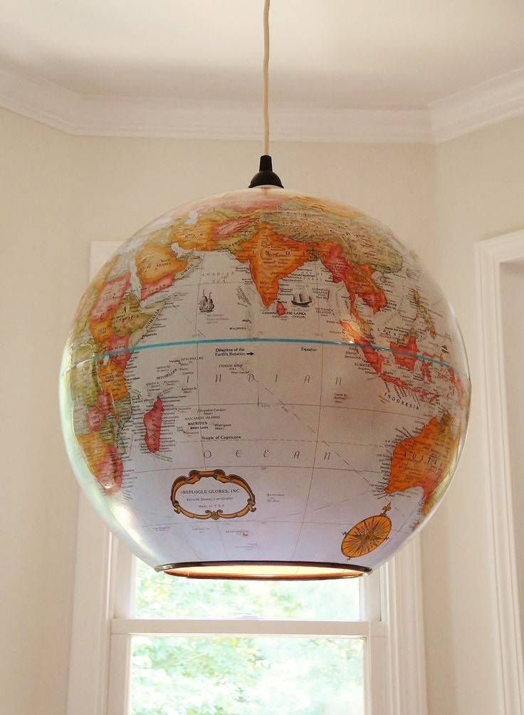 Best 25+ Globe Lamps Ideas On Pinterest | Globes, Global Map And Inside Earth Globe Lights Fixtures (View 3 of 15)