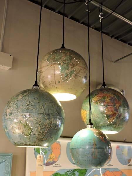 Popular Photo of World Globe Pendant Lights