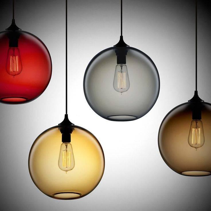 Best 25+ Globe Pendant Light Ideas On Pinterest | Hanging Globe Throughout Coloured Glass Pendants (#7 of 15)
