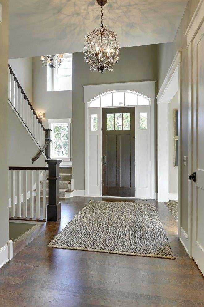 Farmhouse Foyer Xl : Photo of entrance hall pendant lights