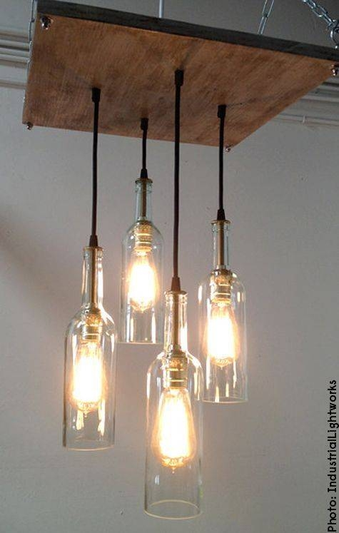 Best 25+ Hanging Light Fixtures Ideas Only On Pinterest | Diy In Wine Jug Pendant Lights (View 13 of 15)