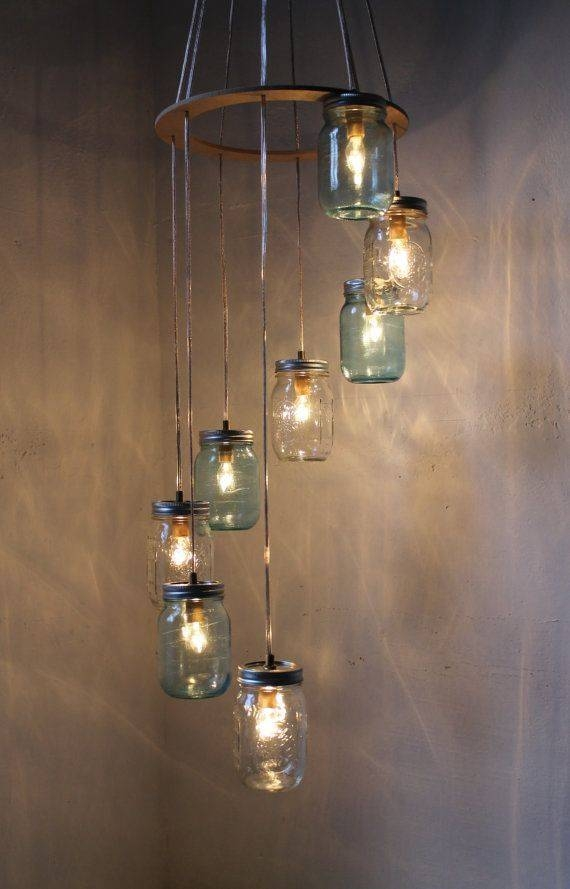 Best 25+ Mason Jar Chandelier Ideas On Pinterest | Mason Jar Light Inside Blue Mason Jar Lights Fixtures (#6 of 15)