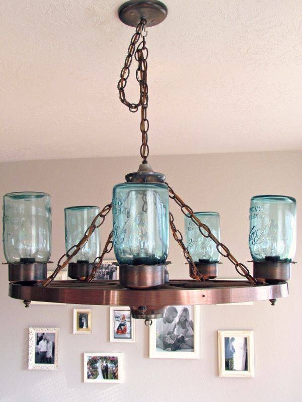 Best 25+ Mason Jar Light Fixture Ideas On Pinterest | Jar Lights For Blue Mason Jar Lights Fixtures (#7 of 15)