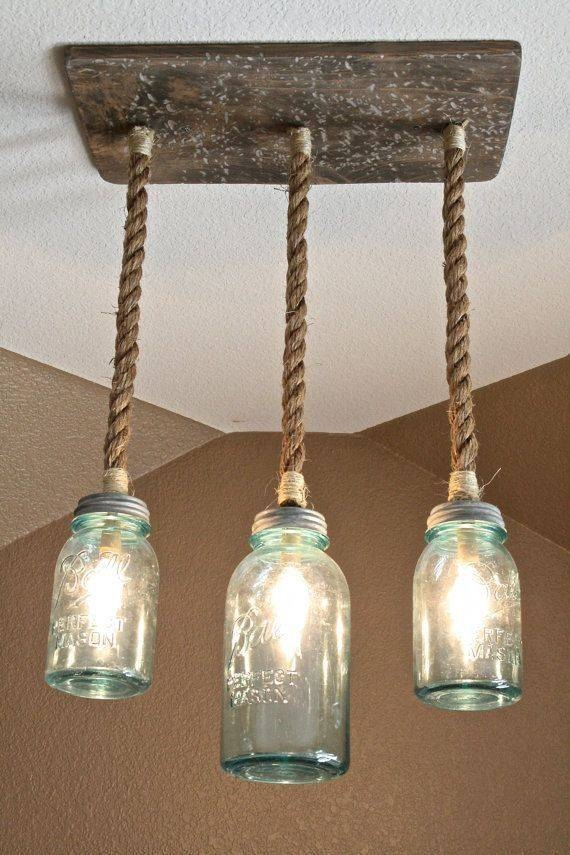 Best 25+ Mason Jar Light Fixture Ideas On Pinterest | Jar Lights Pertaining To Blue Mason Jar Lights Fixtures (#8 of 15)