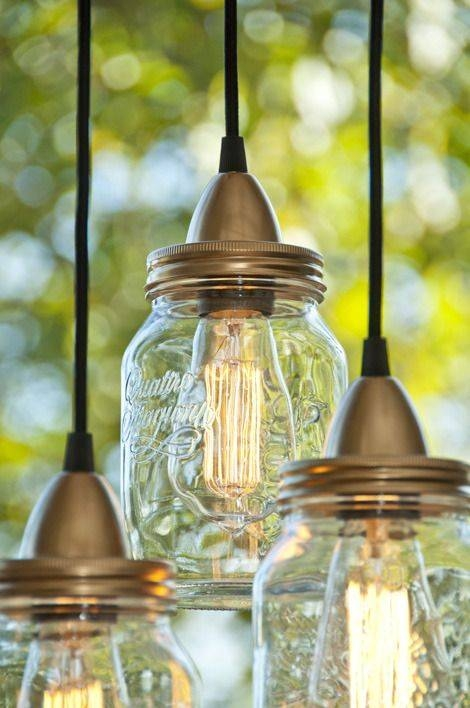 Best 25+ Mason Jar Lighting Ideas That You Will Like On Pinterest With Mason Jar Pendant Lights For Sale (#7 of 15)