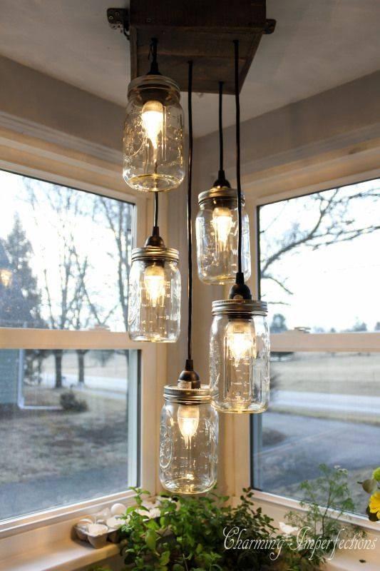 Popular Photo of Mason Jar Pendant Lights For Sale