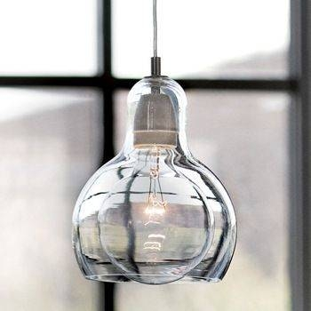 Popular Photo of Blown Glass Pendant Lighting For Kitchen
