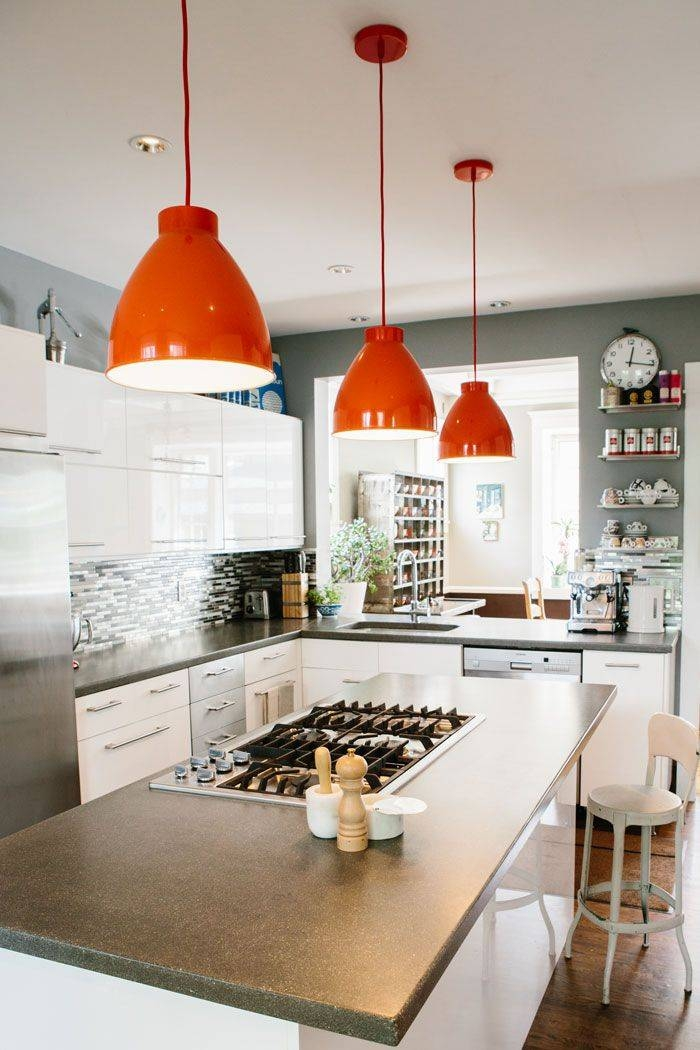 orange kitchen ideas 15 inspirations of orange pendant lights for kitchen 14459