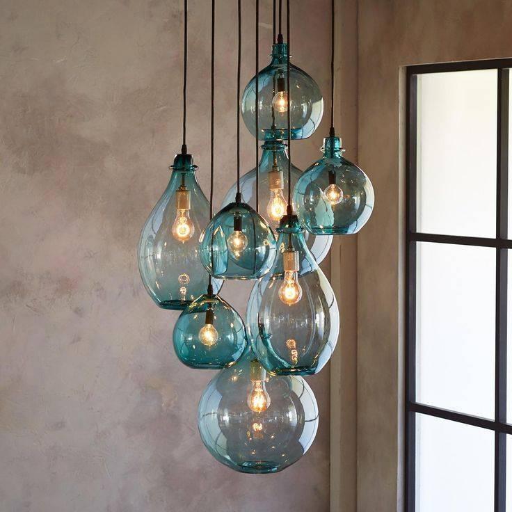 Best 25 Kitchen Chandelier Ideas On Pinterest: 15 Photo Of Turquoise Glass Pendant Lights