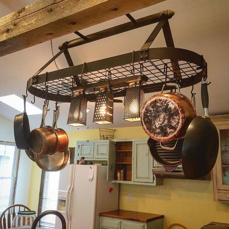 Best 25+ Pot Rack Hanging Ideas Only On Pinterest | Pot Rack, Pot Regarding Pot Rack Pendant Lights (#4 of 15)