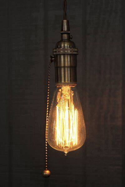 Best 25+ Pull Chain Light Fixture Ideas On Pinterest | Pull Cord In Bare Bulb Pendant Lights Fixtures (View 6 of 15)