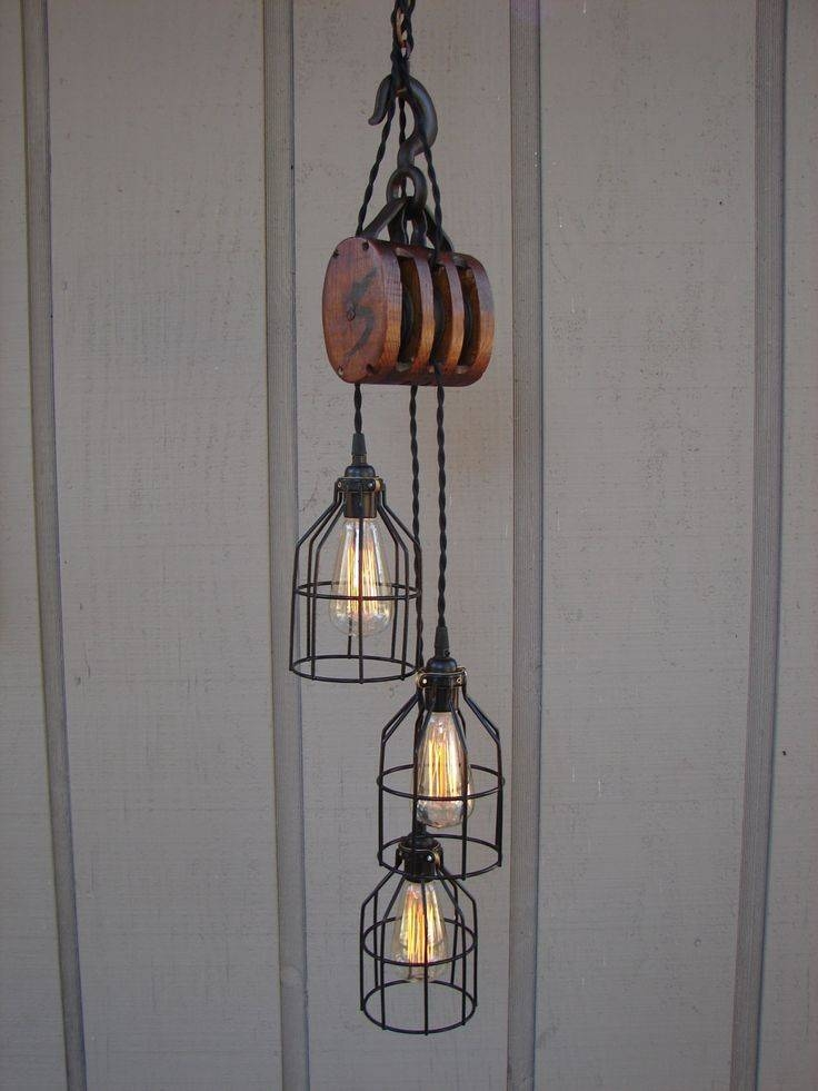 Best 25+ Pulley Light Ideas On Pinterest | Pulley, Vintage Pertaining To Pulley Pendant Light Fixtures (View 3 of 15)