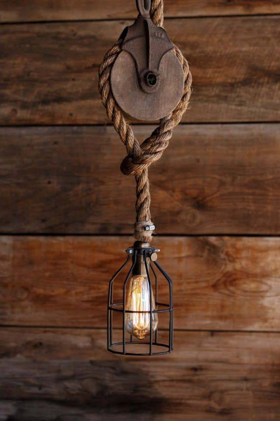 Best 25+ Pulley Light Ideas On Pinterest   Pulley, Vintage Throughout Pulley Pendant Lights Fixtures (#8 of 15)