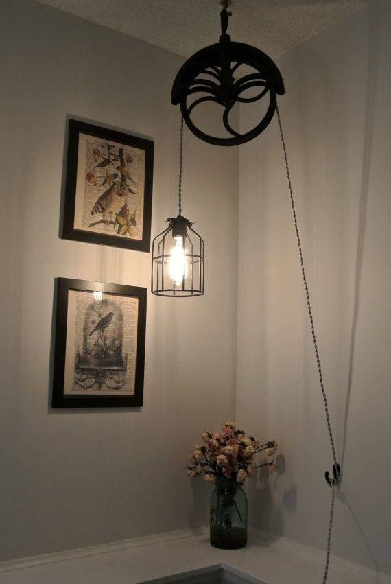 Best 25+ Pulley Light Ideas On Pinterest | Pulley, Vintage Within Pulley Pendant Light Fixtures (#8 of 15)