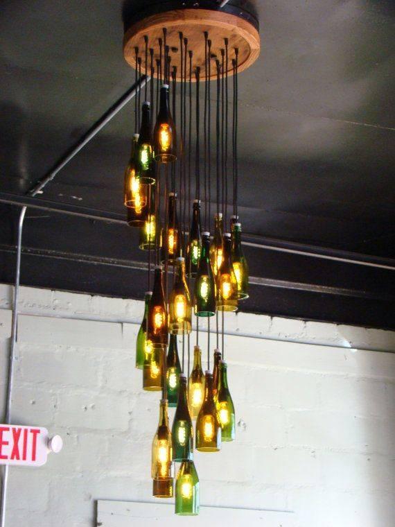 Best 25+ Wine Bottle Chandelier Ideas On Pinterest | Bottle In Wine Bottle Ceiling Lights (View 8 of 15)