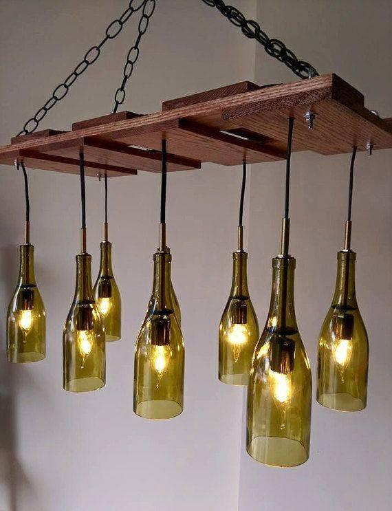 Best 25+ Wine Bottle Chandelier Ideas On Pinterest   Bottle Within Wine Glass Lights Fixtures (#7 of 15)