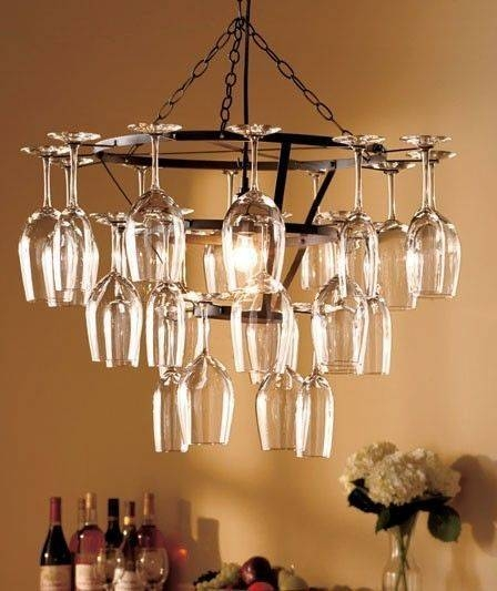 Best 25+ Wine Glass Chandelier Ideas Only On Pinterest | Glass Intended For Wine Glass Pendants (#4 of 15)