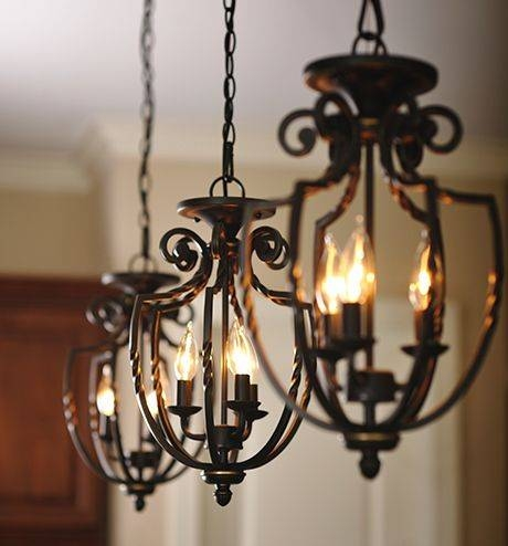 Popular Photo of Wrought Iron Lights Pendants