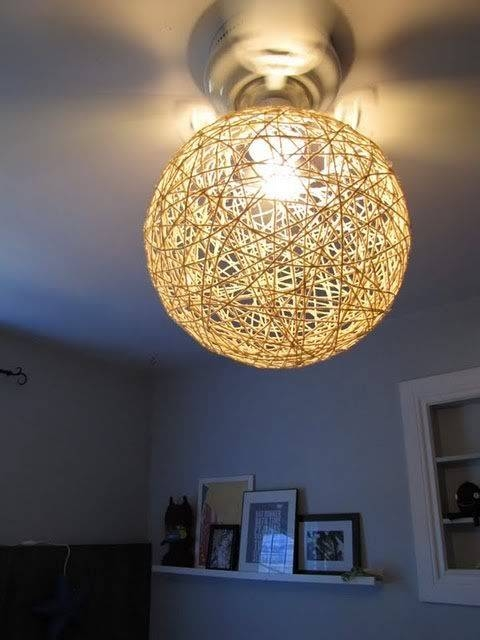 Best 25+ Yarn Lanterns Ideas On Pinterest   Yarn Chandelier, Hemp Within Diy Yarn Lights (#9 of 15)