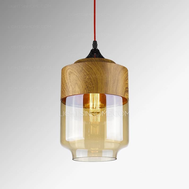 Popular Photo of Brown Glass Pendant Lights