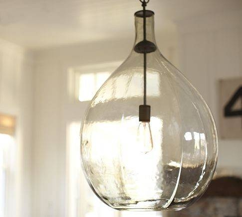 Best Hanging Glass Pendant Lights Round Glass Pendant Light Soul With Glass Jug Lights Fixtures (#10 of 15)