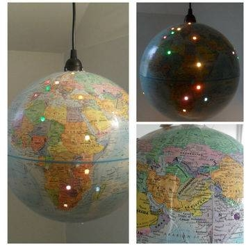 Best Pendant Lamp Globes Products On Wanelo For World Globe Pendant Lights (View 6 of 15)