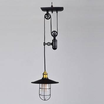 Best Pulley Lighting Products On Wanelo Intended For Double Pulley Pendant Lights (#7 of 15)