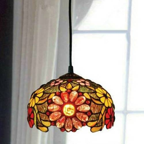 Best Stained Glass Pendant Light Decorative Dragonfly Pattern In Stained Glass Pendant Light Patterns (View 8 of 15)