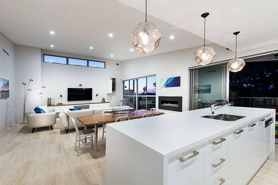 Best Undermount Kitchen Sink Plus White Cabinets Design Feat Pertaining To Pendant Lights Perth (#6 of 15)