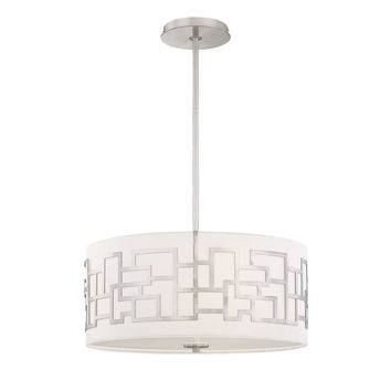 Best White Drum Shade Pendant Products On Wanelo Pertaining To Brushed Nickel Drum Lights (#2 of 15)