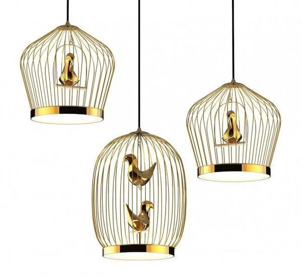 Bird Cage Inspired Lighting : Tweetie Pendant Lamp Inside Bird Cage Pendant Lights (#6 of 15)