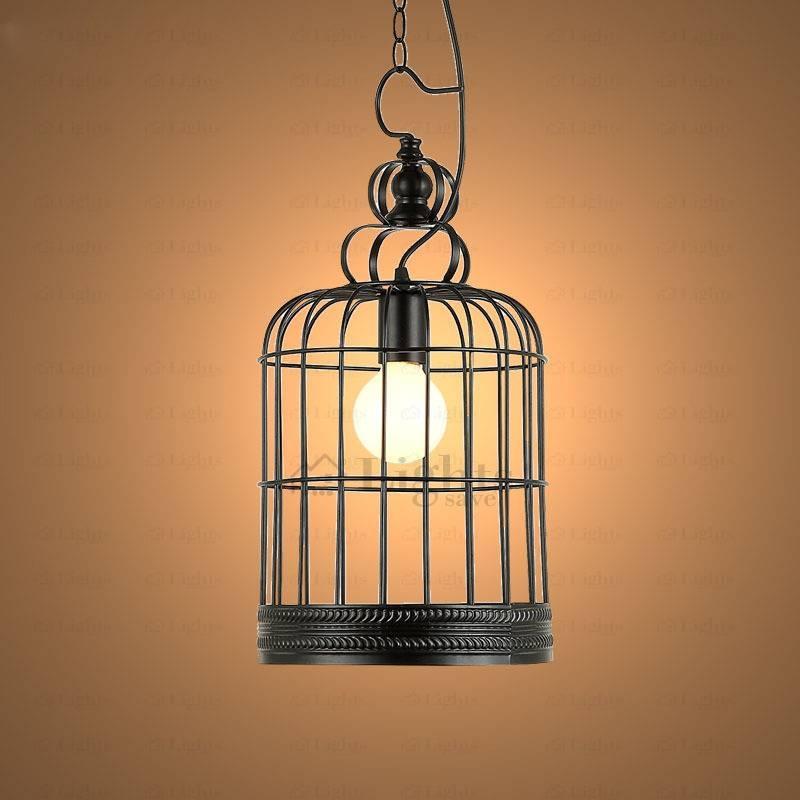 Birdcage Vintage Large Pendant Lights Industrial Design Idea Within Birdcage Pendant Lights (#8 of 15)