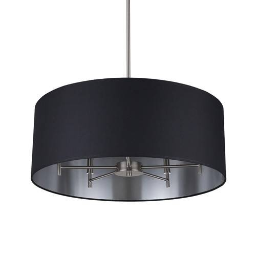 Black Drum Chandelier – Drum Shade Hanging Crystal Chandelier Intended For Black Drum Pendants (View 14 of 15)