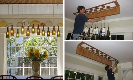 Black Labels, Bright Lights: 5 Diy Wine Bottle Lamp Projects With Regard To Wine Bottle Ceiling Lights (View 10 of 15)