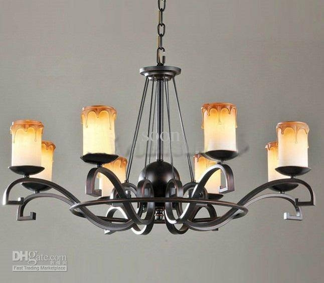 Black Wrought Iron Chandelier Lighting | Roselawnlutheran Regarding Wrought Iron Lights Pendants (#2 of 15)