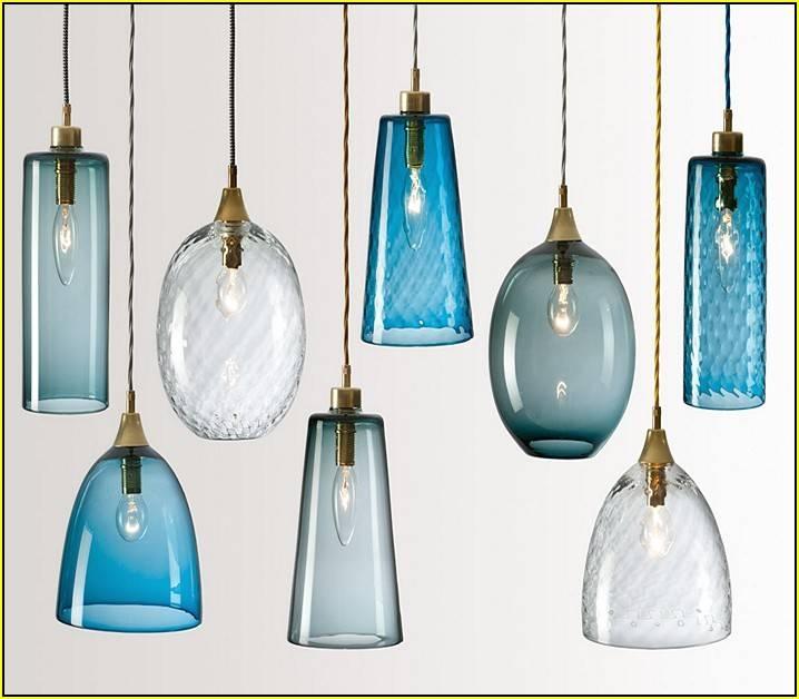Blue Glass Pendant Light (#4 of 15)