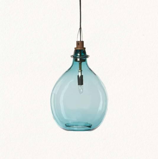 Blue Glass Pendant Light (#6 of 15)
