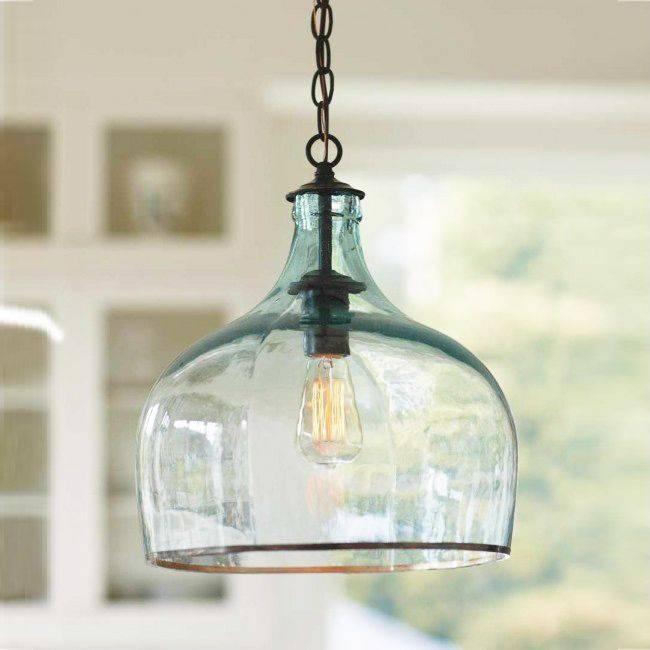 Blue Glass Pendant Light (#7 of 15)