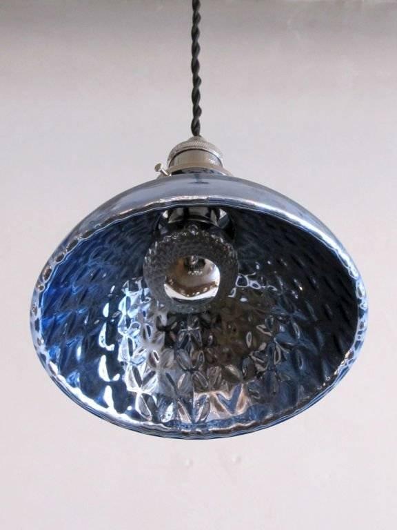 Blue Mercury Glass Pendant Lights At 1stdibs For Blue Mercury Glass Pendant Lights (View 2 of 15)