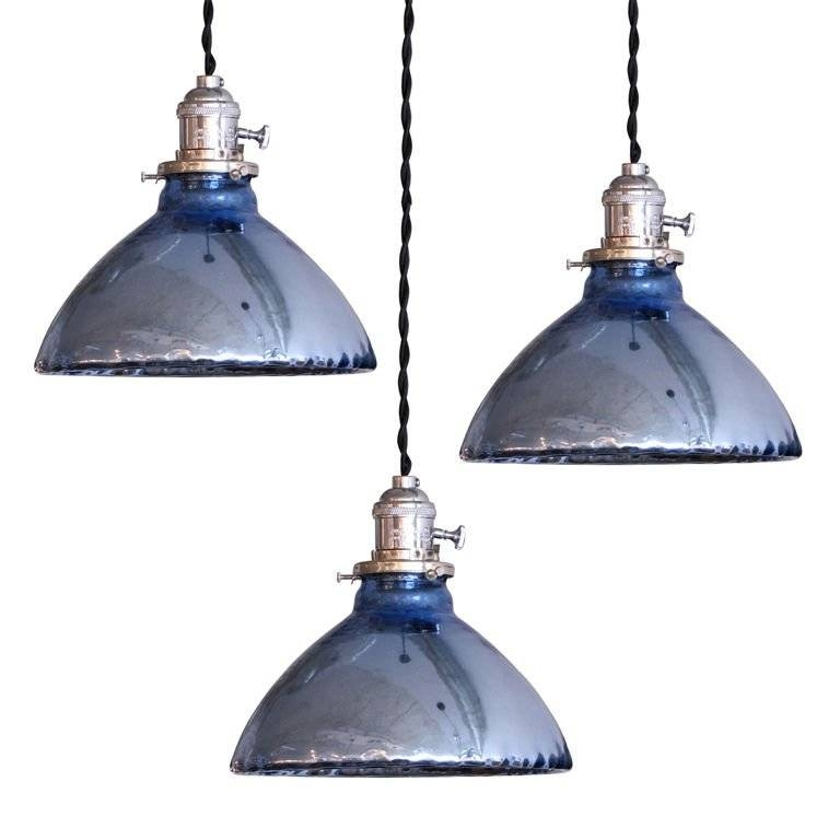 Blue Mercury Glass Pendant Lights At 1Stdibs Intended For Mercury Glass Pendant Lighting (#3 of 15)
