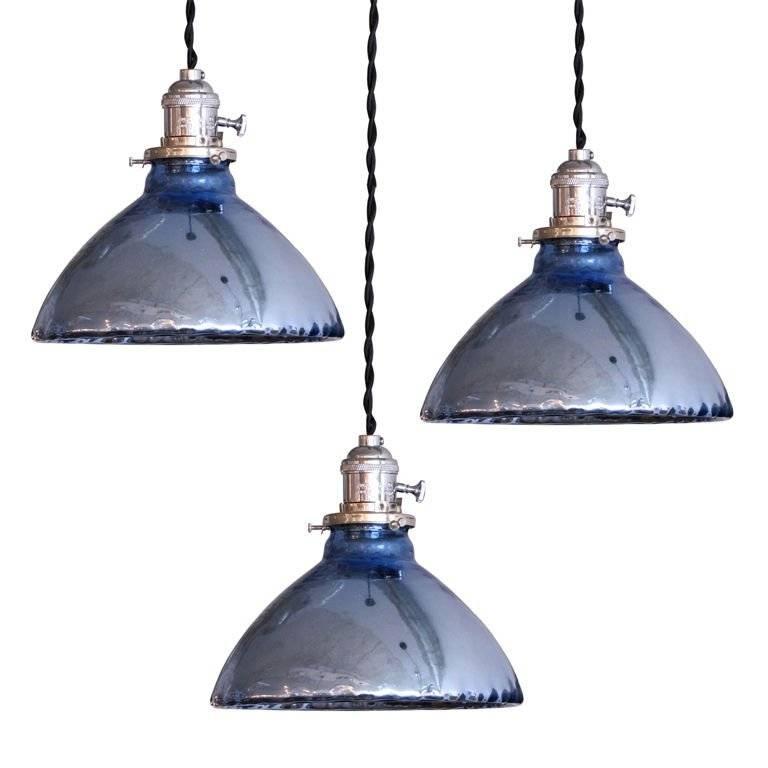 Blue Mercury Glass Pendant Lights At 1Stdibs Within Mercury Glass Pendant Lights (#4 of 15)