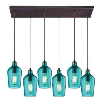 Blue – Pendant Lights – Hanging Lights – The Home Depot Throughout Blue Pendant Light Fixtures (#7 of 15)