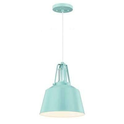 Blue – Pendant Lights – Hanging Lights – The Home Depot With Aqua Pendant Lights (View 12 of 15)