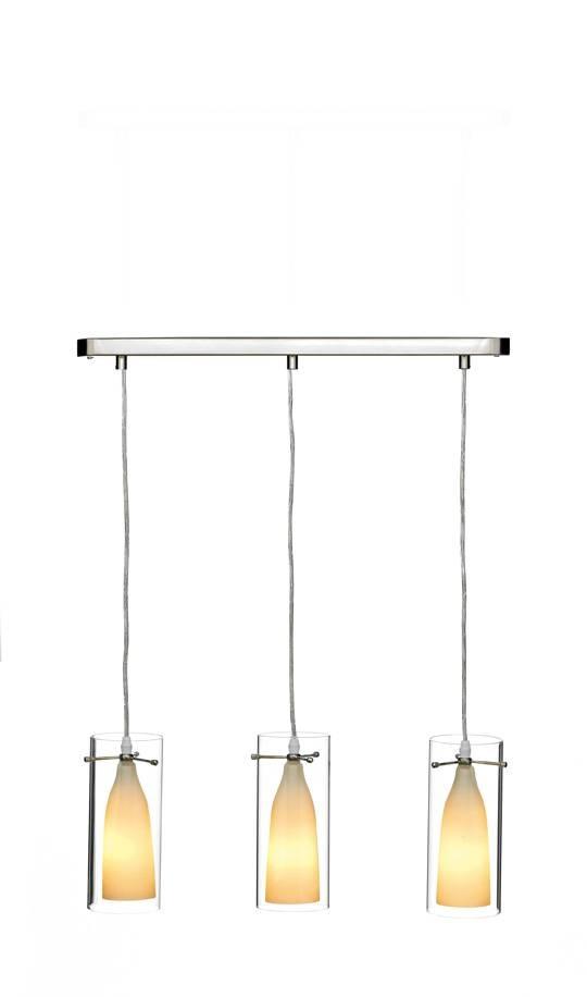 Boda 3x40w Cndl Satin Chrome Triple Ceiling Pendant Light Fitting Regarding 3 Lights Pendant Fitter (View 12 of 15)