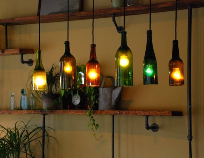Bottle Ceiling Light – When Good Lighting Complements General Within Wine Bottle Ceiling Lights (View 2 of 15)