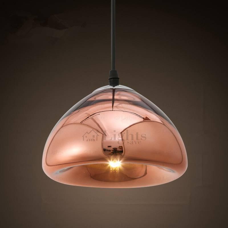 Brief Rose Gold Jellyfish Shape Glass Shade Pendant Lights Regarding Jellyfish Lights Shades (#7 of 15)